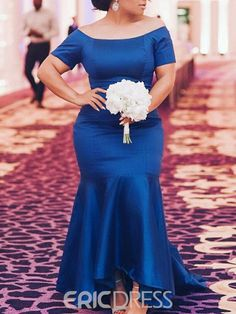 Ericdress Mermaid Off-The-Shoulder Ankle-Length Mother of the Bride Dress Plus Size Wedding Outfits, Wedding Party Dresses, Bridesmaid Dresses, Popular Dresses, Dresses For Sale, Floor Length Dresses, Ankle Length, Mother Of The Bride, Off The Shoulder