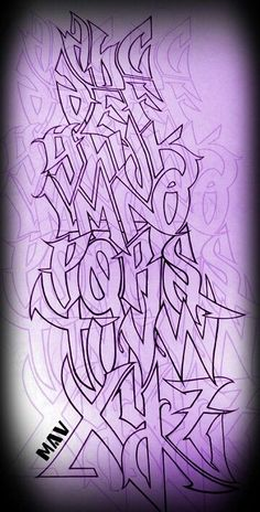 Marc Vickers # font # Hand lettering # Typography # Alphabet # Graffiti # Source by Oddcon Font Hand Lettering, Graffiti Lettering Alphabet, Graffiti Alphabet Styles, Graffiti Text, Chicano Lettering, Graffiti Drawing, Graffiti Styles, Lettering Styles, Graffiti Artists
