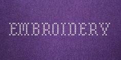 Embroidery Font · 1001 Fonts Embroidery Fonts Free, Cross Stitches, Seed Stitch, Crochet Stitches, Counted Cross Stitches, Crossstitch, Cross Stitch, Cross Stitch Charts