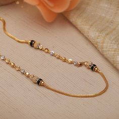 Plain Gold Necklace gms) - Fancy Jewellery for Women by Jewelegance Real Gold Jewelry, Fancy Jewellery, Gold Jewelry Simple, Gold Jewellery Design, Fine Jewelry, Diamond Jewellery, Gold Mangalsutra Designs, Gold Earrings Designs, Necklace Designs
