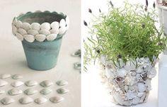 Горшки с ракушками / Цветы, вазы и цветочные горшки / ВТОРАЯ УЛИЦА