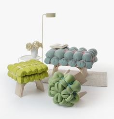 Zieharsofika should show new methods of upholstery construction, aiming to create a stiff cushion from a flat foam mat. By re-thinking cushioning techniques, the project uses conventional rubber foam mats which, with the help of elastic...