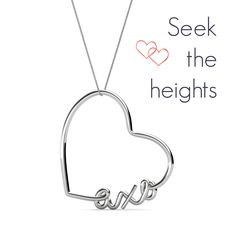 AXO Heart Script Necklace | The perfect gift for your Big or Little! <3 #axo #alphachi #alphachiomega #sorority #jewelry #necklace www.alistgreek.com