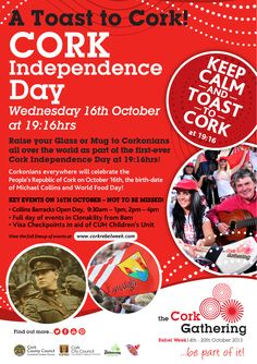 To show solidarity with our Corkonian brethren all over the world... we'd like you to raise your Glass or Mug to your fellow Corkonians as part of the first-ever Cork Independence Day at 19:16hrs. Part of @The Gathering Ireland