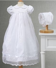 Lauren Madison Baby Girls Embroidered Christening Gown, Baby Girls Gown - Kids - Macy's