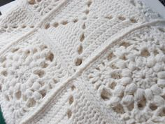white crochet blankets - Google Search