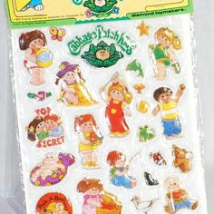 Cabbage patch stickers... I had a special Cabbage Patch sticker album