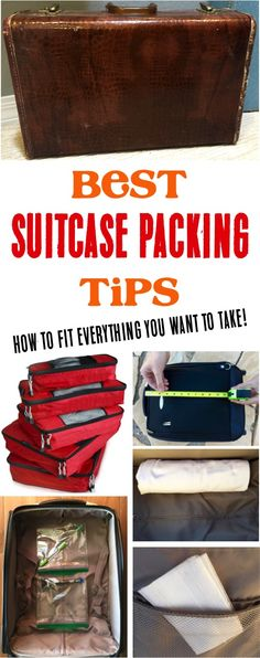 Suitcase Packing Tips!  How to pack EVERYTHING you want to take along on your next vacation! | NeverEndingJourneys.com