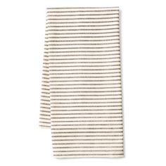 Check out this item at One Kings Lane! S/2 Ticking Café Towels, Black