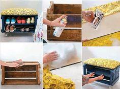 A Reciclar y Reutilizar los Huacales...  ( Huacal o guacal. Especie de jaula o caja formada de tiras de madera separadas, en que se transporta fruta, hortalizas, loza o animales pequeños. )