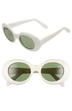 ACNE Studios 'Mustang' 49mm Oval Sunglasses available at #Nordstrom