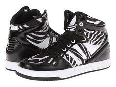 adidas Originals Court Attitude W Black/Black/Zebra Print - Zappos.com Free Shipping BOTH Ways