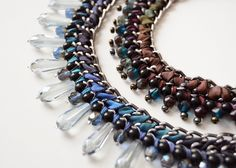 #veracreations #jewelry #necklace #wrap #ribbons #braidednecklace #handmade #blue #brown