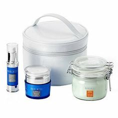 Borghese Restore & Retreat Gift Set by Borghese. $89.00. Beat the winter blues and let Restore and Retreat bring tired, dry skin back to life! Restore your skin with a full facial treatment using our hydrating Ristorativo Collection. Restore and Retreat moisturizes, lifts and preserves skin leaving it smooth, gorgeous and glowing! All packed in a beautiful white train case.