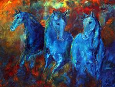 Incandescent Blue Equine  SOLD Commissioned Painting To A Collector In Louisiana  30 x 40 Inches, 2 Inch Deep Gallery Wrapped Canvas  Palette Knife Oil Painting  Enjoy!      Jennifer Morrison  Morrison Studios  A Colorado Contemporary Fine Artist  http://jenpainting.blogspot.com  http://contemporary-oil-paintings.com