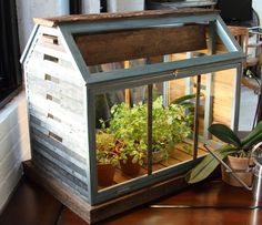 ECOGRO Herb Barn by ECOGRO on Etsy.  Grow herbs indoors year round!  I am so making one of these with reclaimed wood!