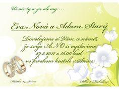 Svadobné oznámenie - SO008