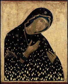 "Virgin Mary ""Keriotissa"" by Christos Bokoros Byzantine Art, Byzantine Icons, Religious Icons, Religious Art, Orthodox Christianity, Art Icon, Orthodox Icons, Medieval Art, Renaissance Art"