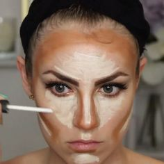 """for a quick Highlight and Contour tutorial using: powder contour kit. Click the link in my bio to watch a full length contouring tutorial. Products Used: concealer in """"Light"""" foundation stick in for contour powder contour kit secret brightening powder Foundation Contouring, Makeup Tutorial Foundation, Contouring And Highlighting, Foundation Stick, Make Up Contouring, Best Contouring Products, Beauty Products, Makeup Tutorials, Bridal Makeup"""