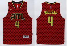 23f22a79c Atlanta Hawks  4 Millsap Red Men 2017 New Logo NBA Adidas Jersey Throwback  Nba Jerseys