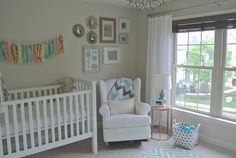 Modern Gender Neutral Nursery - great pops of color and clean lines in this sweet space!