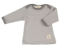 Organic Thin stripe T-shirt grey Organic Baby Clothes, Grey Stripes, T Shirts, Organic Cotton, How To Wear, Outfits, Tops, Pigeon