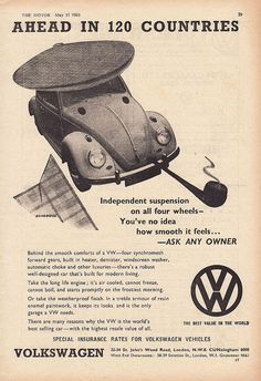 1961 VW Beetle ad (UK) by kitchener.lord, via Flickr