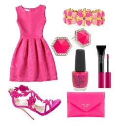 """""""Alles rosa"""" by laurakantarevic on Polyvore featuring Oscar de la Renta, Kate Spade, MAKE UP FOR EVER, OPI, ABS by Allen Schwartz and Liz Claiborne"""