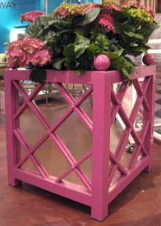 Worlds Away Largo Pink Mirrored Planter
