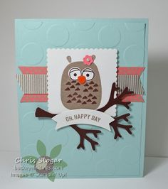 by Cindy: Playful Pals, Thoughtful Banners, Affectionately Yours dsp, Tree punch, Duet Banner punch - all from Stampin' Up!