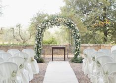 Beautiful ceremony arch for our wedding in Chianti