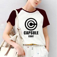 Capsule Corp Dragon Ball Inspired Short Sleeve T-Shirt Harajuku Kawaii