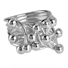 Tianguis Jackson Silver Beaded Ring