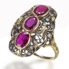 A ruby and diamond ring, by Buccellati, circa 1920