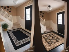 Foyer Painting Or How To Paint Your Tile Floors | When Love Grows More