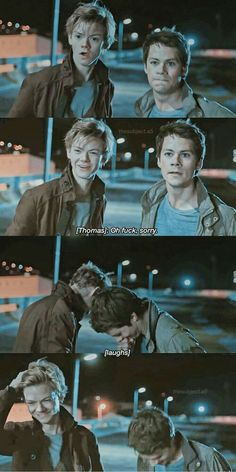 Thomas Brodie Sangster and Dylan O'Brien on the Death Cure Maze Runner Thomas, Newt Maze Runner, Maze Runner Funny, Maze Runner Movie, Maze Runner Quotes, Thomas Brodie Sangster, Maze Runner Trilogy, Maze Runner Series, Ulzzang Girl Fashion