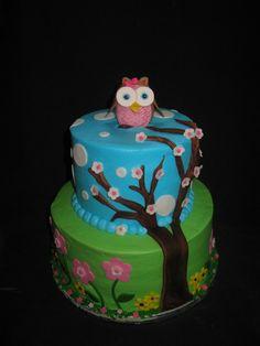 Love this cute owl cake!