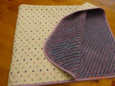 A faux chenille baby blanket - home dec print with 3 layers of flannel cut with a chenille cutter