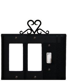 #Heart #Double #GFI and #Single #Switch #Cover #Wall #Home #Decor http://www.okdecor.com/wrought-iron-heart-gfi-switch-outlet-cover.html#.UQkmjvJnPFo