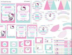 Hello Kitty Birthday party printables
