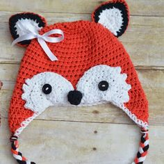 Free Pattern: Crochet Fox Hat