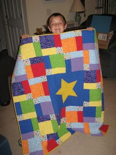My Star quilt, made for an auction at my kids' school