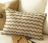 Rustic Luxe™ Beaded Wave Pillow | Pottery Barn