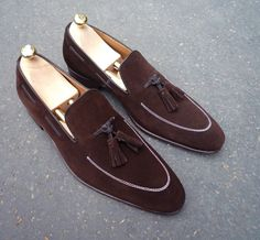 Handmade Loafer Brown Leather Shoes, Wedding Tussle Shoes For Men Men's Slippers This item is handmade Material: Suede Leather Upper Genuine Suede Lining Soft Calf leather Sole Genuine leather ( Hand stitch) Heel Genuine leather All hand. Brown Loafers, Brown Leather Shoes, Leather Loafer Shoes, Brown Shoe, Suede Shoes, Loafers Men, Shoe Boots, Soft Leather, Suede Leather