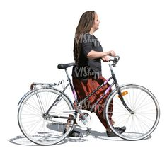 cut out woman with a bicycle walking Cut Out People, Bicycle, Walking, Woman, Bike, Bicycle Kick, Bicycles, Walks, Women