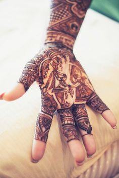 Bridal henna of couple
