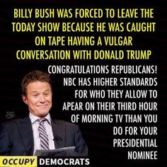 Really? Ted Kennedy killed a woman and never left office. Bill Clinton had sex with an intern in the oval office and lied and never left. Trump was in the 'business' when he made his crude remarks. i don't think libs want to throw stones at the crude Hollywood types lest they lose their big bucks. M.W.10/23/16