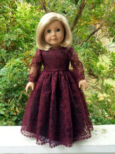 American Girl Doll Clothes Bridesmaid Formal Gown by SewSoNancy