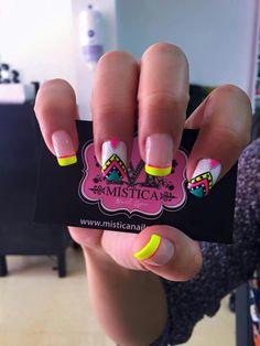 Funky Nails, Neon Nails, Funky Nail Designs, Nail Art Designs, Bella Nails, Nail Decorations, One Design, Nail Arts, Manicure And Pedicure