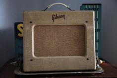 1955 Gibson GA-5 Les Paul Junior Brown/Tan Clean Original Collectable Tube Amp Great Tone